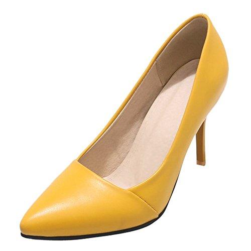 Misssasa Chaussures Femme Elegant Jaune