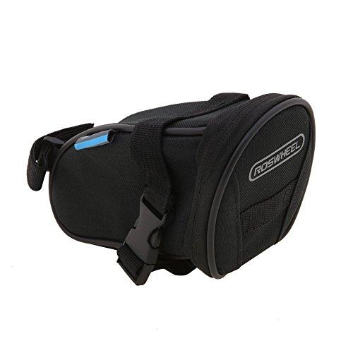 Roswheel Fahrrad Satteltasche Bike Bag Rahmentasche Fahrradtasche Oberrohrtasche Schwarz für Rennrad Mountainbike Handy Wertsachen Schwarz