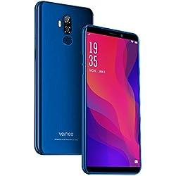 4G Téléphone Portable Debloqué, Vernee X2 Android 9.0-6350 mAh Batterie 6 Pouces HD écran 3Go RAM-32Go (Extensible à 128Go) 1.5GHz Quad-Core CPU 13MP+5MP Double Caméra Arrière Dual Sim Smartphone