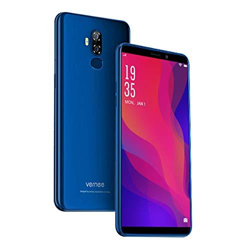 Vernee X2(2019) Dual SIM Smartphone Ohne Vertrag, Android 9.0 4G Handy, 6350 mAh großer Akku, 3GB RAM 32GB ROM, 13MP+5MP Haupt/5MP Frontkameras, 6 Zoll 18: 9 HD-Display, Fingerabdruck, GPS(blau)