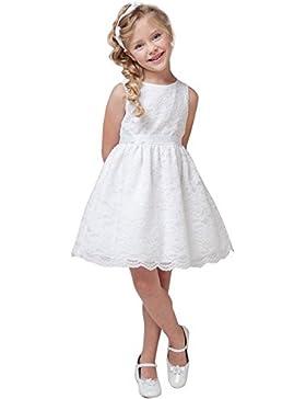 Freebily Vestido de Princesa para Niña Bebé (6 Meses a 10 Años) Vestido de Bautizo Fiesta Comunión Ceremonia