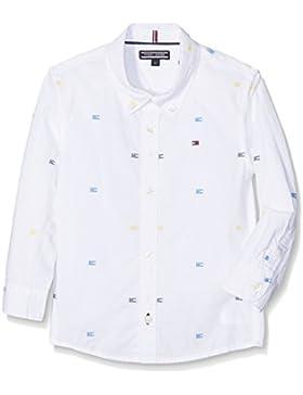 Tommy Hilfiger AME Flag Dobby Shirt L/S, Camiseta de Tirantes Para Mujer
