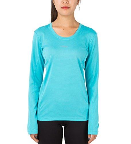 H.MILES Damen Laufshirt Langarm Funktionsshirt Sport Fitness Yoga Langarmshirt Longsleeve Shirt