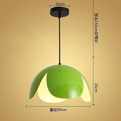 DGHDFH * Pendelleuchte Kronleuchter Restaurant Licht Büro Einfache Kreative Persönlichkeit Modern Green 9 Watt Led 30 * 20 cm ●