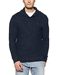 Tommy Hilfiger Mens Cotton Sweater (8907504799534_A7ATS124_L_BLACK IRIS)