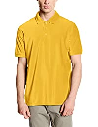 Fruit of the Loom - Polo - Uni - Manches Courtes - Homme jaune L