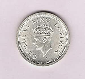 British India 1944 * KG VI Silver One Rupee Coin * Rare Collectible