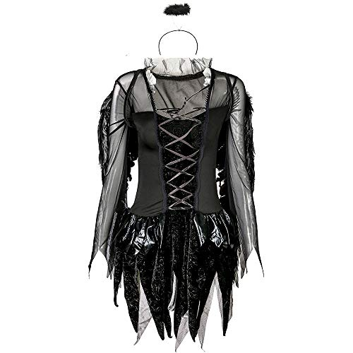 Ghost Kostüm Soul Lady - Chengzuoqing-CL Halloween Damenkostüme Engel Kostüm Spiel Lady Halloween Sexy Dark Uniform Ghost Bride Party anziehen (Farbe : Schwarz, Größe : M)
