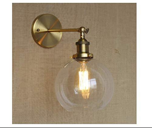 led deckenleuchte Wandleuchte Globe Shade Mini Wandleuchte Classic Vintage mit Klarglas-Gold -