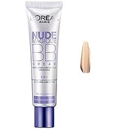 L'Oréal Paris Nude Magique BB Cream 5 Benefici in 1, Effetto Nudo e Ottima Copertura, 24 h di Idratazione, Medium