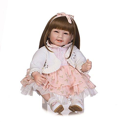 Susiebaby Poupée Bébé Reborn Poupon Fille de Longs Cheveux Réaliste...