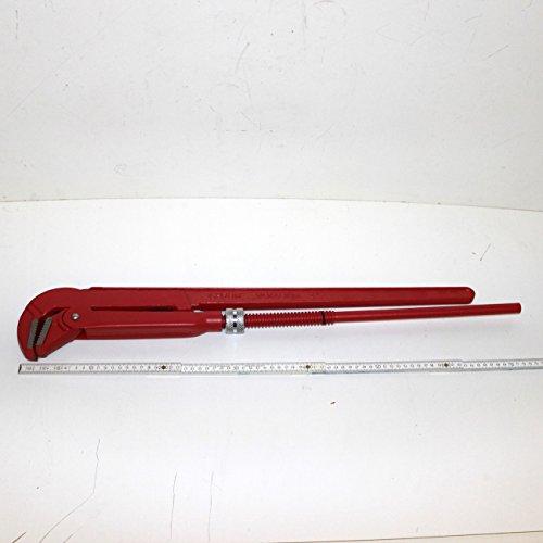 4 ' zoll / 100 mm XXXL Eck-Rohrzange / Eckrohrzange / Wasserpumpenzange extra groß, schwedische gerade Form, 90 Grad, Maulöffnung 10 cm, Länge 80 cm lang, Gewicht 5,1 kg, WGB, 10 Jahre Garantie