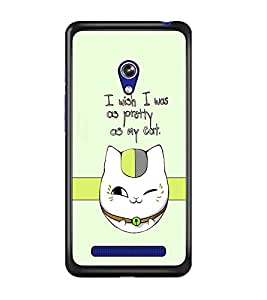 PrintDhaba Cat Quote D-1232 Back Case Cover for ASUS ZENFONE 5 A501CG (Multi-Coloured)