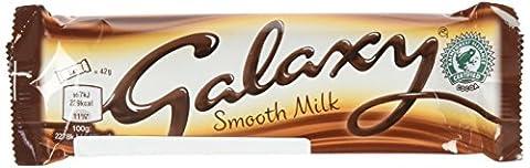 Galaxy Barre de Chocolat au Lait Onctueux 42 g - Lot de 8