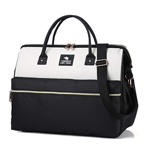 3 in 1 cabina approvata trolley viaggio borsa da viaggio volo zaino bagaglio a mano valigia bagaglio caso zhangaizhen (colore : black+white, dimensioni : small)