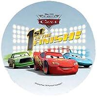 ~ Disney Pixar Cars Tortenaufsatz 20,5cm Essbar Wafer/Reis IV. Papier Cup Cake Dekoration Topper Geburtstag Party Kids