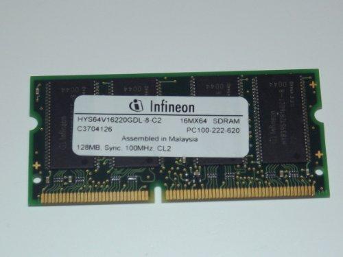 INFINEON Arbeitsspeicher, SDRAM, SODIMM, 128 MB, PC100, 144 Pins, HYS64V16220GDL - 8-C2,: 40 - 144 Pin Pc100 Sdram Sodimm
