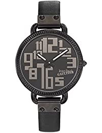 Reloj mujer JEAN PAUL GAULTIER–Index–acero PVD negro–pulsera cuero negro–36mm–8504304