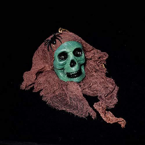 Heylookhere Praktisch einzigartig Halloween hängenden Scary Skull Ghost Kopf Spukhaus Dekor Prop Bleeding Kopf Party Ornament (Farbe : ()