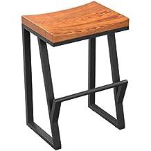 tabouret de bar vintage en bois massif tabouret de cuisine chaise de petit djeuner comptoir tabouret - Tabouret Bar Fer