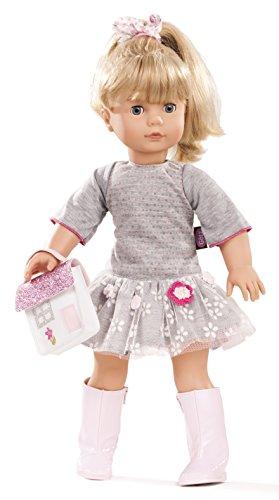 Götz 1690391 Precious Day Girls Jessica Puppe Netlace & Flowers - 46 cm große Stehpuppe, Blonde Lange Haare, Blaue Schlafaugen - 5-teiliges Set - Große Kinder-eis-blau-kleidung