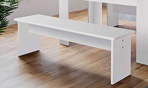 AVANTI TRENDSTORE - Munich - Set mit 2 Bänken in weiß Dekor, BHT ca. 120x45x37 cm (Esszimmer Set Bank)