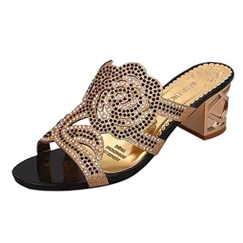 Estive Donna Moda Sandali con Tacco Comfort Toe Sandali Scarpe Camminare Piattaforma 5 cm