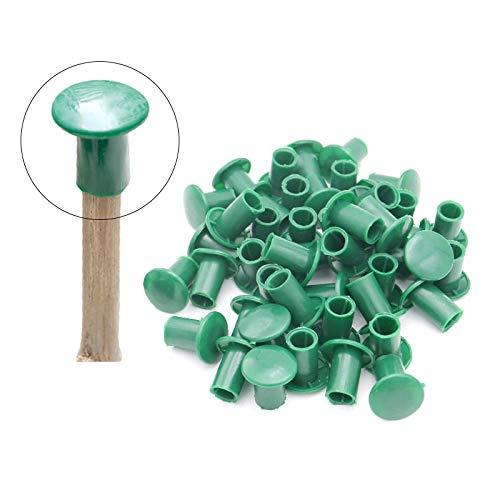 50 Stk Bambusrohr Kappe, Grün weiche Gummi kappen für Bambusstäbe