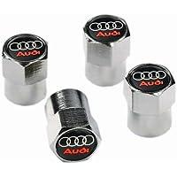 Tapones antipolvo para válvulas de Audi VC09, metal cromado