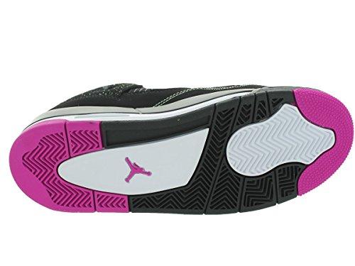 Nike Air Jordan 4 Retro 30th Gg, Chaussures de Running Entrainement Fille Multicolore - Negro / Rosa / Blanco (Black / Fuchsia Flash-Lqd Lm-Wht)