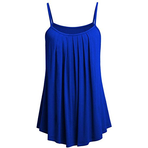 OVERDOSE Sommer Einfarbig Frauen Bluse Shirt Camis Pullis Oberteile Lose Leibchen Damen Einfarbig Chiffon Tank Tops Plus Größe S-6XL(F,3XL)