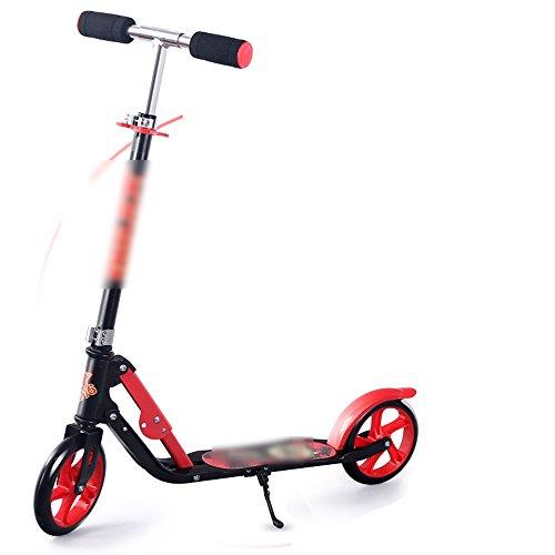 QFFL huabanche Scooter Scooter para Dos Ruedas para Principiantes Scooter Plegable para niños 3-12 años Bloque Deslizante 2 Color Opcional Tamaño Mediano (Color : A, Tamaño : Metro)