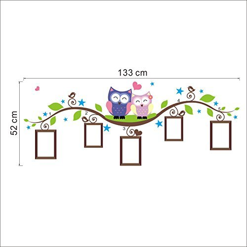 5X Photo Frames With Owls DIY Art Wall Decal Decor Room Stickers Vinyl Removable Paper Mural Home by ZooYoo