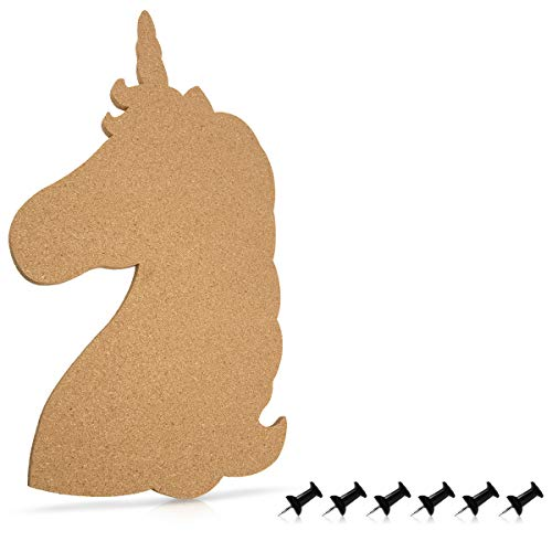 Navaris Tablero corcho forma unicornio - Pizarra corcho