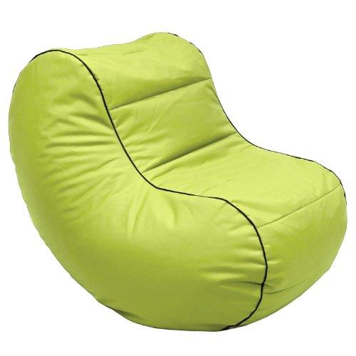 Lumaland Luxury Lounge Chair Sitzsack stylischer Beanbag 320L Füllung Grün (Bean Bag Chair Grün)