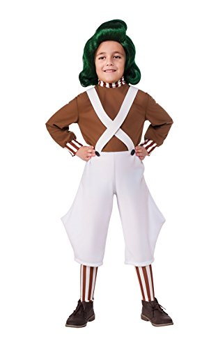 Rubie's offizielles Oompa-Loompa-Kinderkostüm zu Willy Wonka und die Schokoladenfabrik