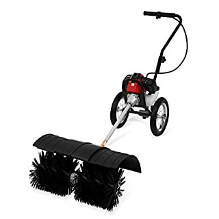 Eberth 3 HP Petrol powered broom with chassis (2-stroke petrol engine, 60 cm all season brushes, incl. chassis)