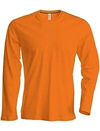 Amazon.es  Naranja - Camisetas de manga larga   Camisetas 9810ea320e67e