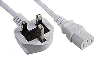 Frei von Blei UK Stecker auf IEC C13 weiß 2 M