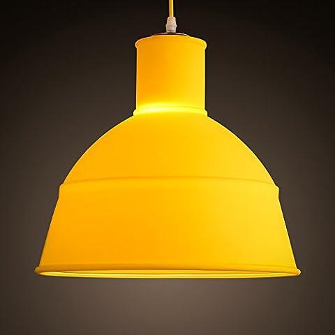 BBSLT Nordic sencillas habitaciones infantiles dormitorios barra de luz lámpara de araña del restaurante tienda de té en araña de color caramelo tienda de café de sombra de 330*320 mm , amarillo