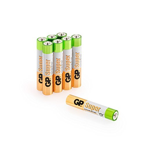 GP Batterien AAAA (Typ Mini / LR61) Super Alkaline 1,5V, 8 Stück, ideal für Stylus Pens, Stirnlampen etc.