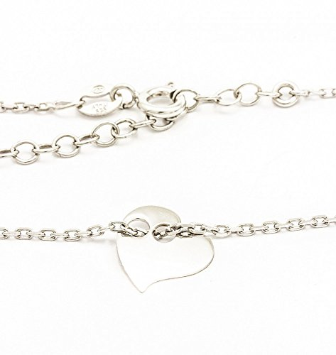 ASS 925 Silber Damen Kinder Anker Kette Armband 17-19 cm Herz
