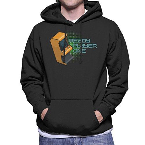 Retro Arcade Ready Player One Logo Men's Hooded Sweatshirt Black