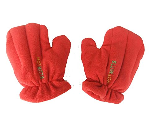 Microwave Hand Warmers Gloves - Pair of Hot Mitts red medium Hot Mitt