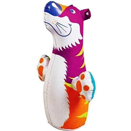 Zonster 3D-Bop-Tasche Rosa Tiger - Aufblasbare Blow Up Boxsack Spielzeug, Geschenk, für Kinder Fun
