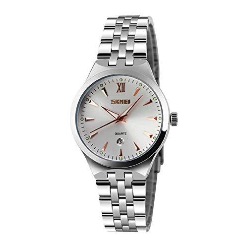 V.JUST Paaruhr Herrenuhren Top-Marke Kalender Mode Uhr 3Bar wasserdichte Quarz Armbanduhren,B1 -