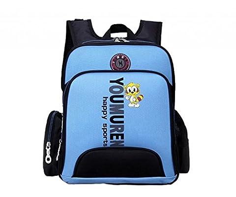 "La Vogue Girl Boy Kids Pink Backpack Primary School Puppy Pattern Black Size 14""x12""x5"" (Light Blue)"