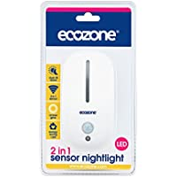 (10 PACK) - Ecozone 2 In 1 Sensor Led Light | 25 X 100g | 10 PACK - SUPER SAVER - SAVE MONEY