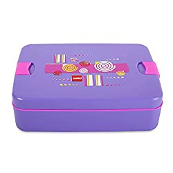 Cello Lunch Mate Air Tight Lunch Box, 3 Pcs, Violet