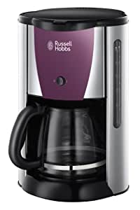 Russell Hobbs Colours Purple Passion Glas-Kaffeemaschine Edelstahl / purpur